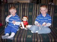 Curious George got to play the Nintendo Wii